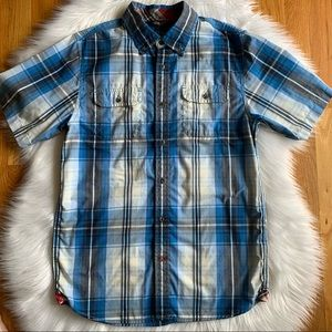 Men's North Face Plaid Shirt Size Small